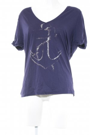 Diesel T-Shirt dunkelviolett platzierter Druck Casual-Look