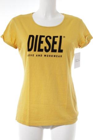 Diesel T-Shirt goldorange Casual-Look
