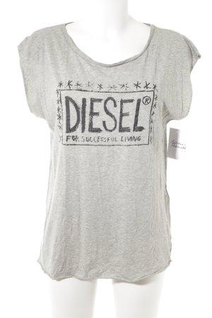 Diesel T-Shirt grau-schwarz Casual-Look