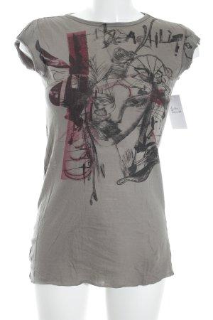 Diesel T-Shirt grüngrau Casual-Look