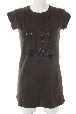 Diesel T-Shirt grüngrau-schwarz Casual-Look