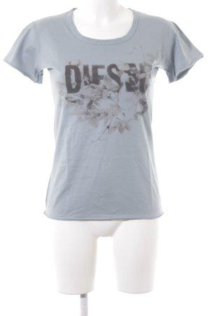 Diesel T-Shirt hellblau Casual-Look