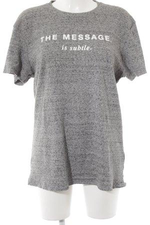 Diesel T-Shirt hellgrau-grau Schriftzug gedruckt sportlicher Stil