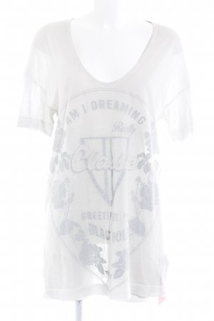 Diesel T-Shirt hellgrau Motivdruck Casual-Look