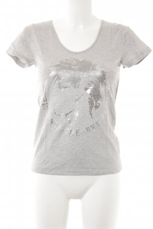 Diesel T-Shirt hellgrau-silberfarben Casual-Look
