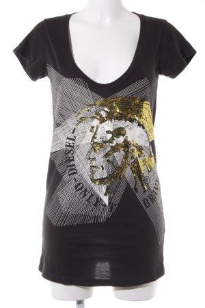 Diesel T-Shirt Motivdruck Casual-Look