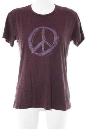 Diesel T-Shirt purpur Motivdruck Glitzer-Optik
