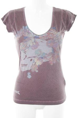 Diesel T-Shirt purpur sportlicher Stil