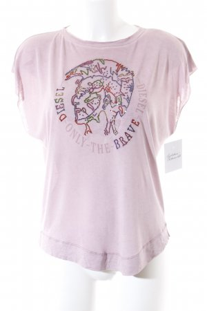 Diesel T-Shirt roségoldfarben grafisches Muster Casual-Look