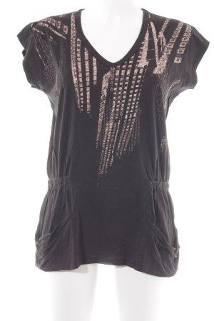 Diesel T-Shirt schwarz Motivdruck Casual-Look