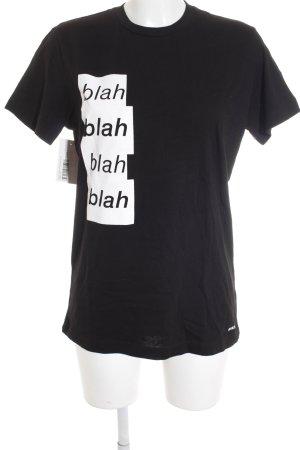 Diesel T-Shirt schwarz Motivdruck Skater-Look