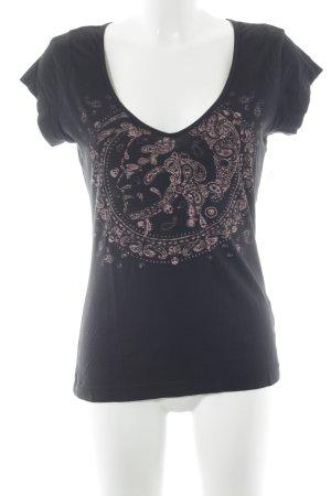 Diesel T-Shirt schwarz Ornamentenmuster Street-Fashion-Look