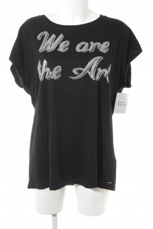 Diesel T-Shirt schwarz-silberfarben Casual-Look