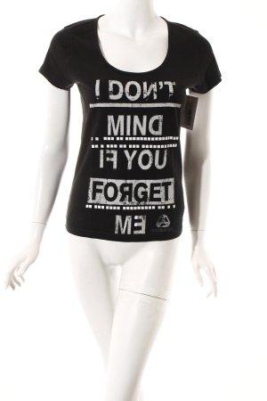 Diesel T-Shirt schwarz-weiß Schriftzug gedruckt Casual-Look