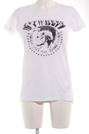 Diesel T-Shirt weiß Motivdruck sportlicher Stil