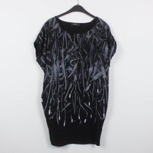 Diesel T-shirtkleid Gr. XS schwarz Reisverschlussmuster (18/12/116)