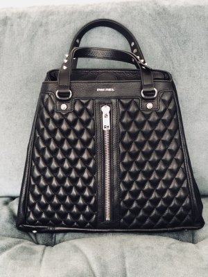Diesel Carry Bag black-silver-colored