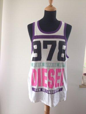 Diesel Top oversize unisoze Logo Neon Farbe weiss lila türkis pink schwarz sommer