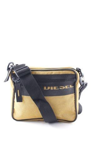 Diesel Borsa a spalla marrone scuro-giallo scuro stile casual