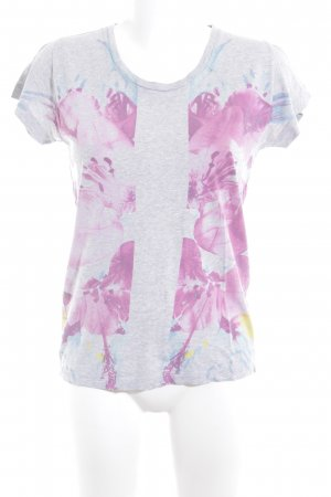 Diesel V-Neck Shirt abstract print casual look