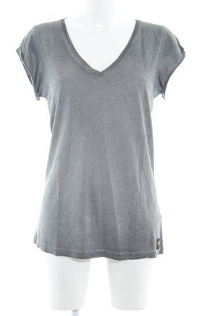 Diesel T-shirt col en V multicolore style décontracté