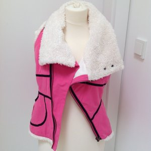 Diesel Weste S pink Fell asymmetrischer Schnitt