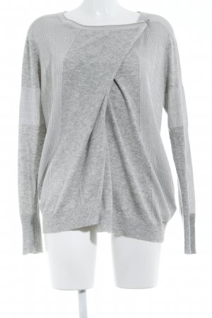 Diesel Camisa cruzada gris claro look casual