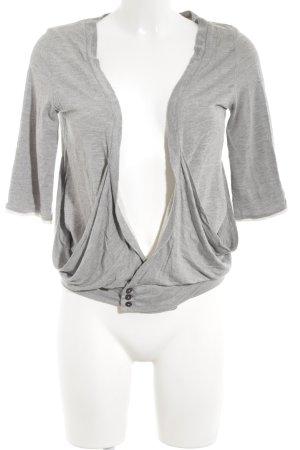 Diesel Wikkelshirt lichtgrijs-grijs gestippeld casual uitstraling