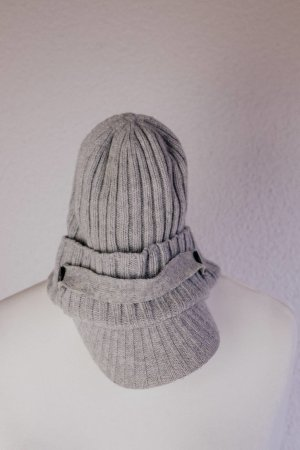 Diesel Knitted Hat light grey-grey wool