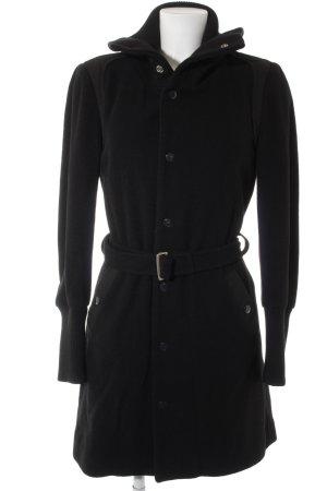 Diesel Giacca di lana nero stile da moda di strada