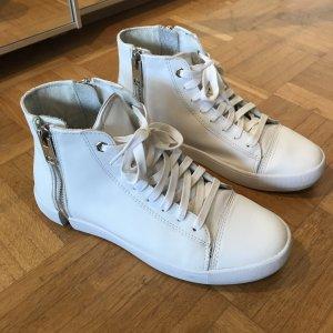 Diesel Zip Round Sneaker weiß