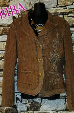 Biba Jersey Blazer brown mixture fibre
