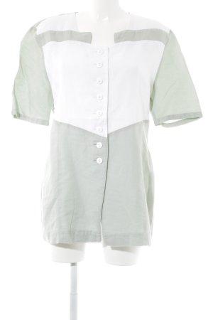 Dieter Heupel Blouse en lin blanc cassé-vert clair style simple
