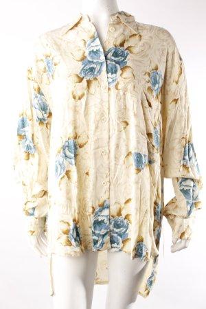 Dif Vintage-Longbluse Blumenmuster
