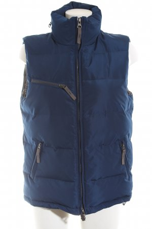 Different Quilted Gilet blue quilting pattern casual look