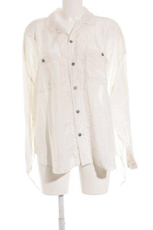 DIFFUSION Langarm-Bluse hellbeige klassischer Stil