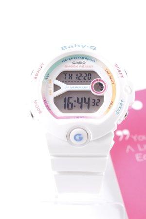 Reloj digital blanco look retro