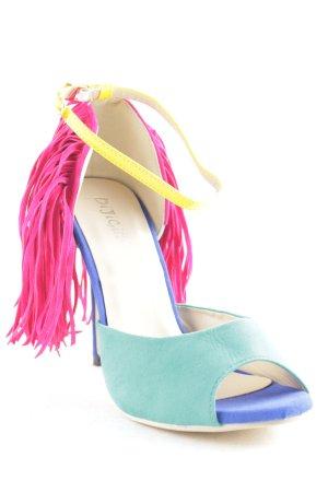 DiJiGirls Peep Toe Pumps multicolored extravagant style