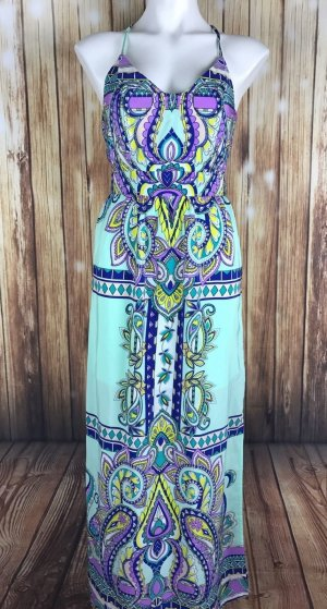 Dina Be Boho Festival Paisley - Muster Multicolor Buntes Sommer Strand Maxi Kleid