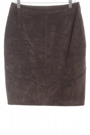 Dino'Z Leather Skirt dark brown casual look