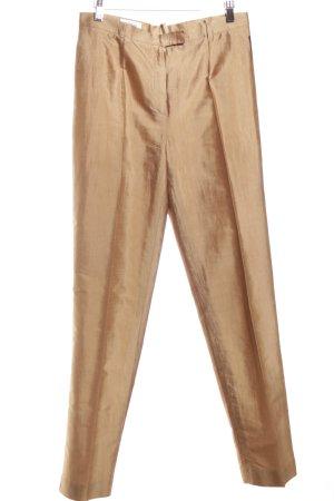 Dinomoda Pantalon à pinces doré élégant
