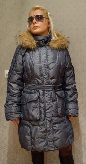 Dinomoda Abrigo de plumón gris-gris oscuro