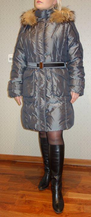 Dinomoda Manteau en duvet argenté-gris polyamide