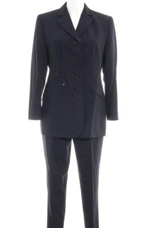 Dinomoda Tailleur-pantalon bleu foncé style d'affaires