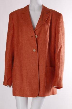 Dinomoda Lange blazer licht Oranje zakelijke stijl