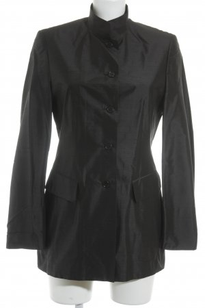 Dinomoda Long-Blazer schwarz Casual-Look