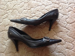 Christian Dior Pointed Toe Pumps black leather