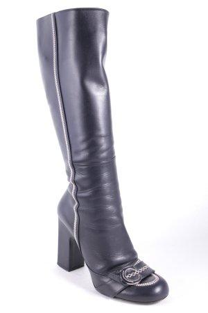Dior Absatz Stiefel schwarz Eleganz-Look