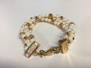 Dior Bracelet doré-blanc cassé