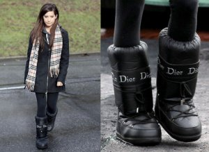 Dior Winter Boots black-white